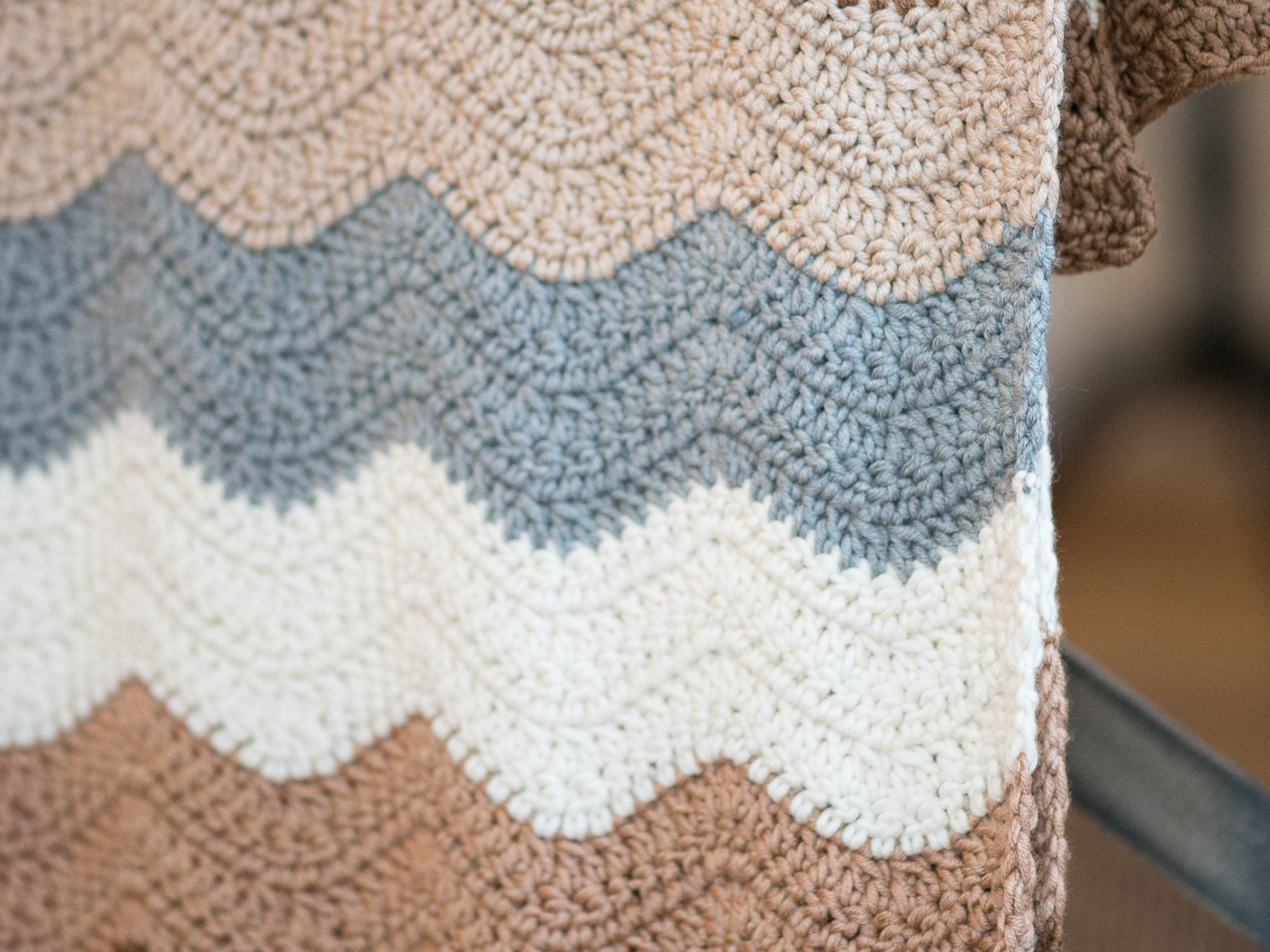 seventies crochet blanket
